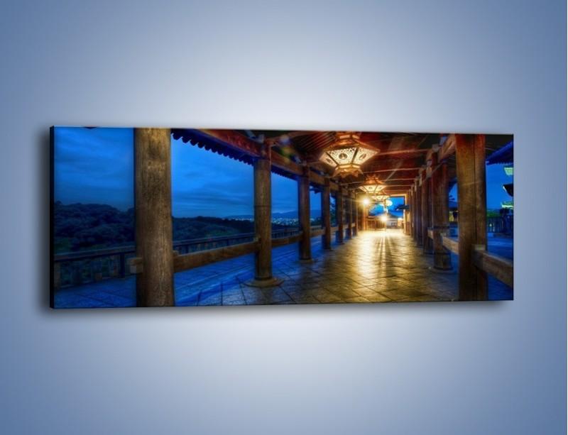 Obraz na płótnie – Zadaszony taras w Kyoto – jednoczęściowy panoramiczny AM331