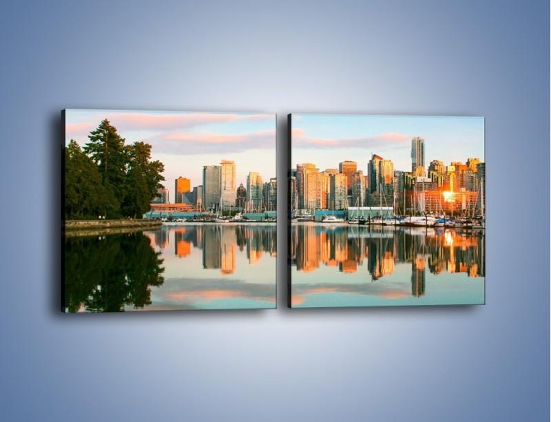 Obraz na płótnie – Widok na Vancouver – dwuczęściowy kwadratowy poziomy AM765