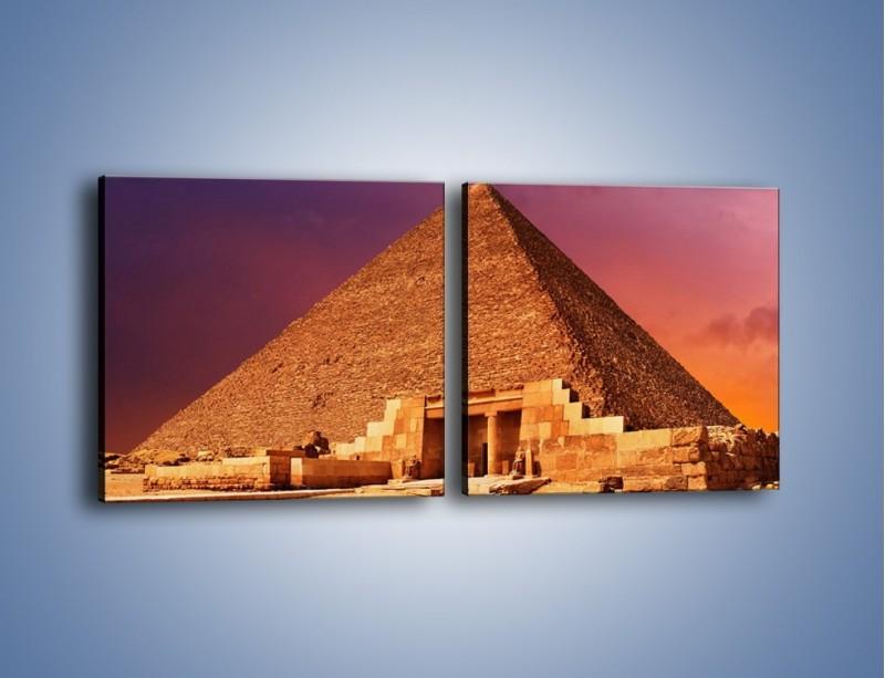 Obraz na płótnie – Piramida w Egipcie – dwuczęściowy kwadratowy poziomy AM812