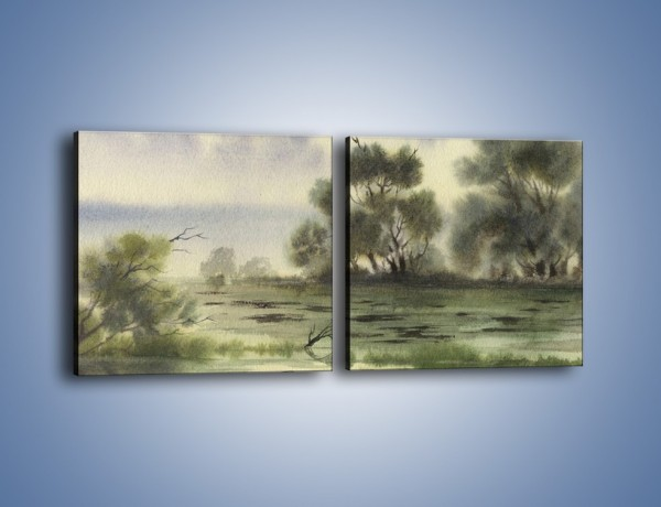 Obraz na płótnie – Smutek i melancholia – dwuczęściowy kwadratowy poziomy GR071