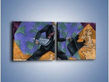Obraz na płótnie – Dużym krokiem przez świat – dwuczęściowy kwadratowy poziomy GR081