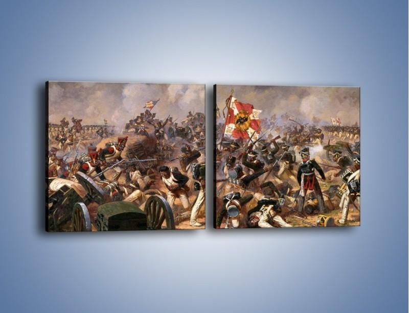 Obraz na płótnie – Wojna i jej skutki – dwuczęściowy kwadratowy poziomy GR133