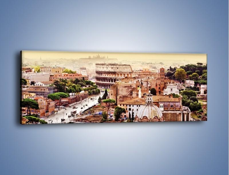 Obraz na płótnie – Panorama Rzymu – jednoczęściowy panoramiczny AM338