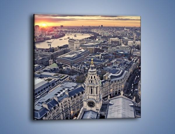 Obraz na płótnie – Widok na Londyn z Katedry św. Pawła – jednoczęściowy kwadratowy AM652
