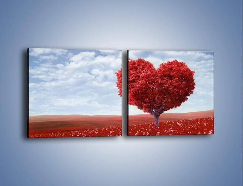 Obraz na płótnie – Polaną w stronę miłości – dwuczęściowy kwadratowy poziomy GR249