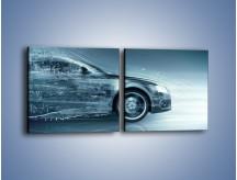 Obraz na płótnie – Auto z prędkością światła – dwuczęściowy kwadratowy poziomy GR264