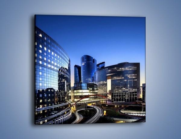 Obraz na płótnie – Dzielnica La Défense w Paryżu – jednoczęściowy kwadratowy AM653