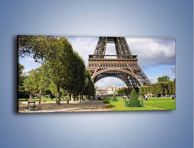 Obraz na płótnie – Wieża Eiffla – jednoczęściowy panoramiczny AM340