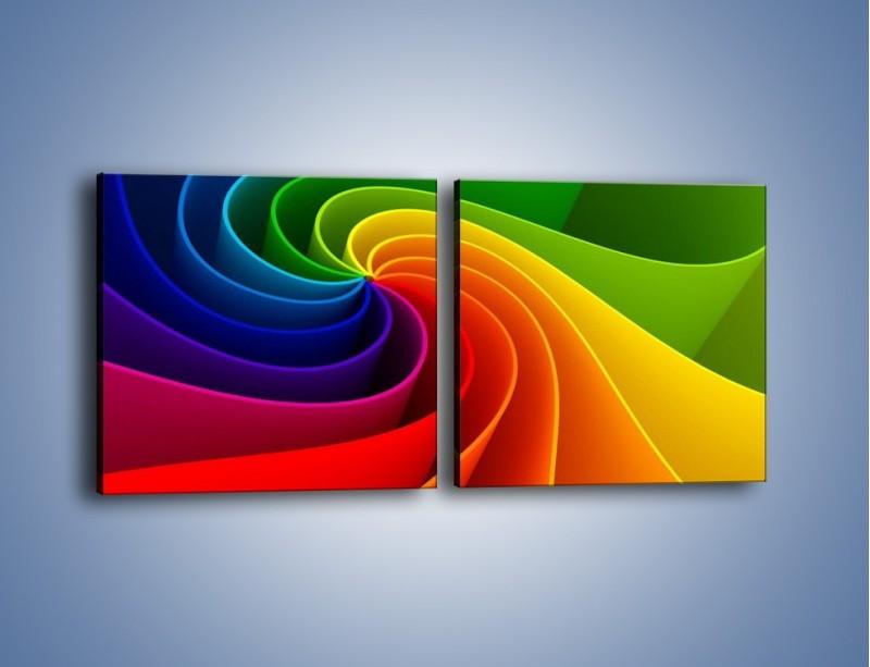 Obraz na płótnie – Niczym kolorowy kwiat – dwuczęściowy kwadratowy poziomy GR392