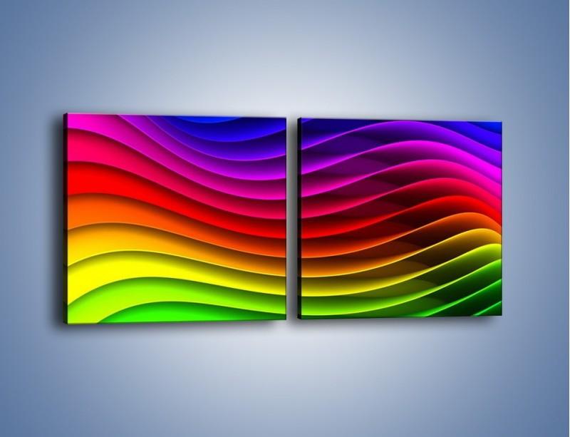 Obraz na płótnie – Falą w kolorze – dwuczęściowy kwadratowy poziomy GR393
