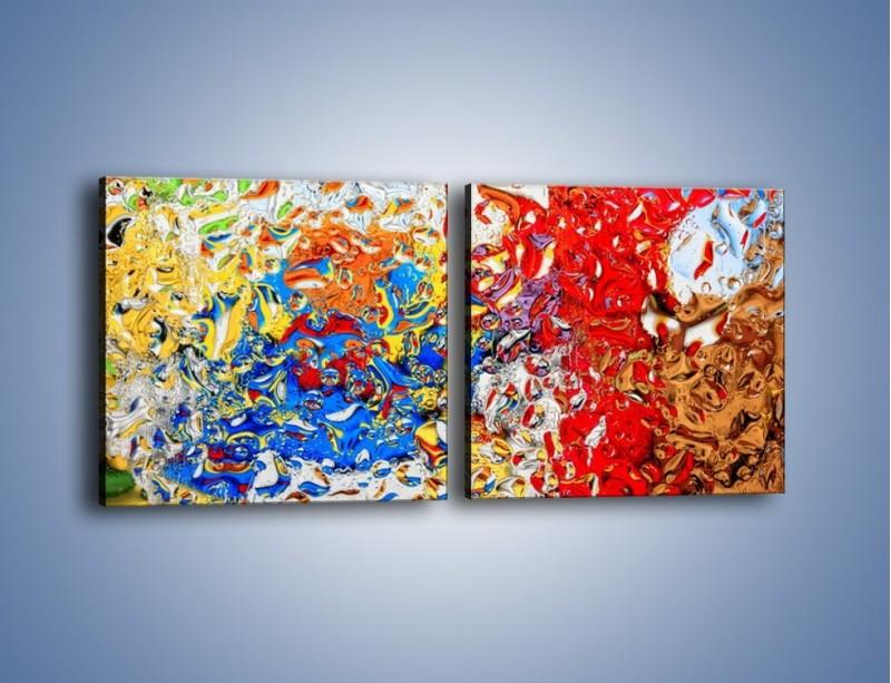 Obraz na płótnie – Każdy kolor coś znaczy – dwuczęściowy kwadratowy poziomy GR407