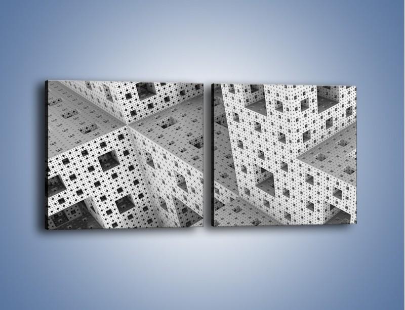 Obraz na płótnie – Budynki z klocków – dwuczęściowy kwadratowy poziomy GR410
