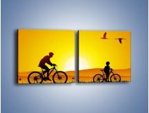 Obraz na płótnie – Bezcenny czas z synem – dwuczęściowy kwadratowy poziomy GR414