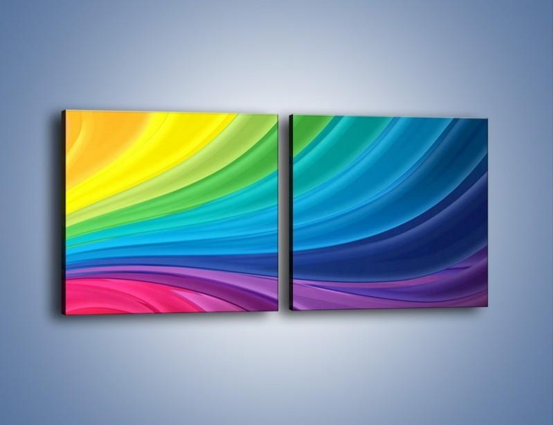 Obraz na płótnie – Zachowane kolory tęczy – dwuczęściowy kwadratowy poziomy GR424