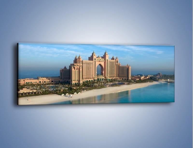 Obraz na płótnie – Atlantis Hotel w Dubaju – jednoczęściowy panoramiczny AM341