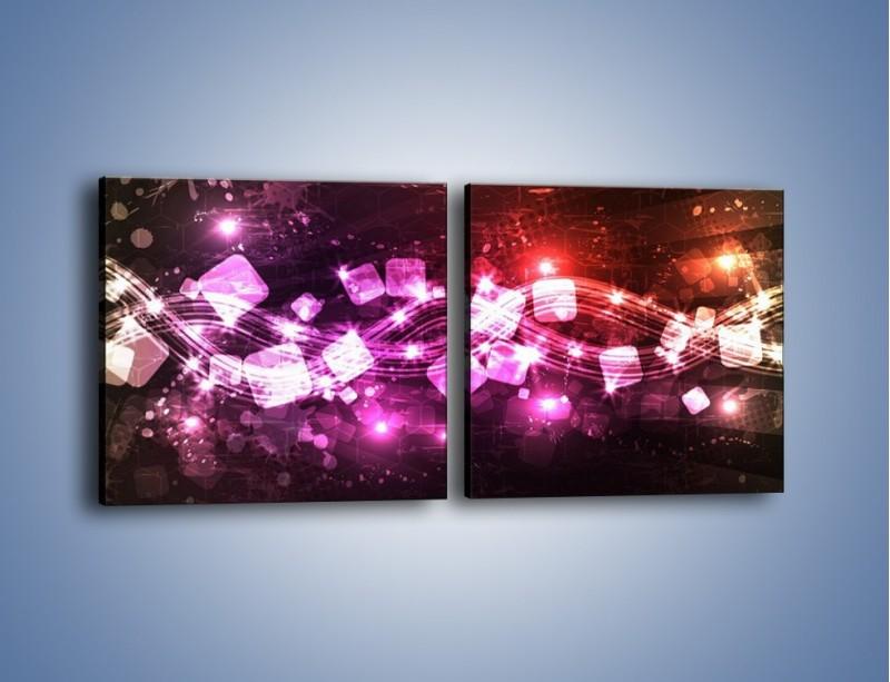 Obraz na płótnie – Płynąć razem z falą – dwuczęściowy kwadratowy poziomy GR430