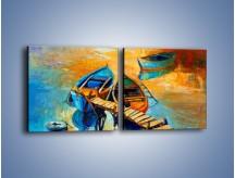 Obraz na płótnie – Bezpośrednio do łódki – dwuczęściowy kwadratowy poziomy GR439