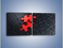 Obraz na płótnie – Brakujący element – dwuczęściowy kwadratowy poziomy GR453