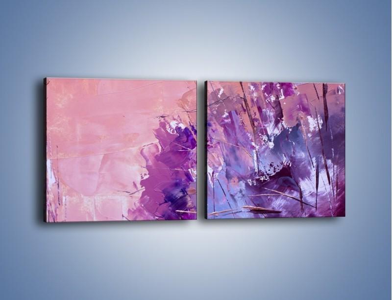 Obraz na płótnie – Mocna barwa fioletu – dwuczęściowy kwadratowy poziomy GR472