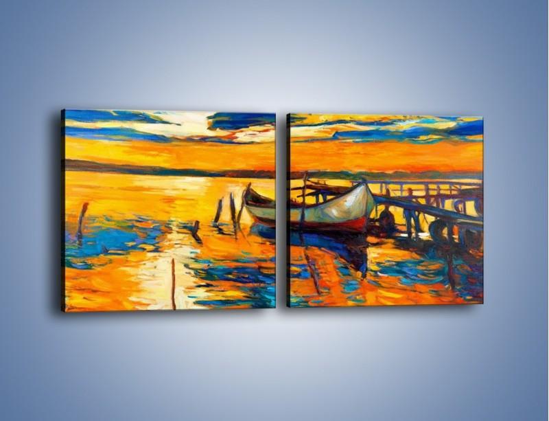 Obraz na płótnie – Żar w wodzie i na niebie – dwuczęściowy kwadratowy poziomy GR474