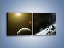 Obraz na płótnie – Dotrzeć między planety – dwuczęściowy kwadratowy poziomy GR534