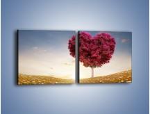 Obraz na płótnie – Drzewo pełne miłości – dwuczęściowy kwadratowy poziomy GR537