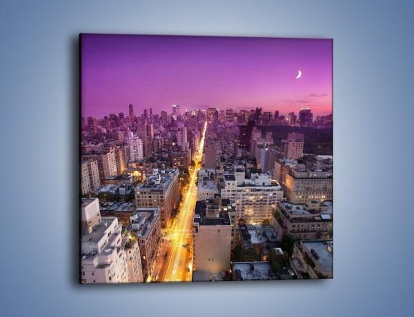 Obraz na płótnie – Zmierzch nad Nowym Jorkiem – jednoczęściowy kwadratowy AM657