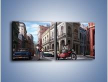 Obraz na płótnie – Codzienne życie na kubie – dwuczęściowy kwadratowy poziomy GR627