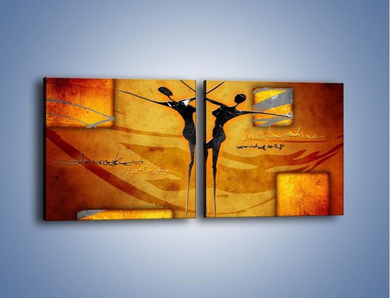 Obraz na płótnie – Dotyk w tańcu – dwuczęściowy kwadratowy poziomy GR633