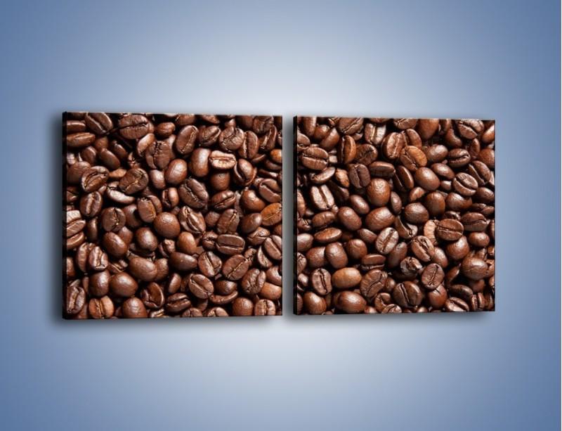 Obraz na płótnie – Ziarna świeżej kawy – dwuczęściowy kwadratowy poziomy JN061
