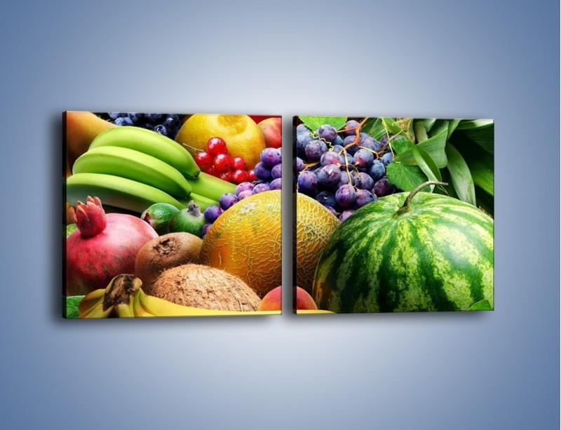 Obraz na płótnie – Stół pełen dojrzałych owoców – dwuczęściowy kwadratowy poziomy JN072