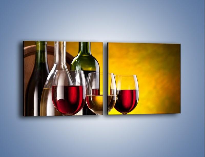 Obraz na płótnie – Wino z orzechami – dwuczęściowy kwadratowy poziomy JN077