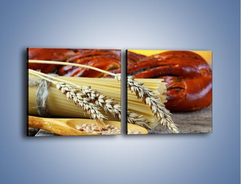 Obraz na płótnie – Chleb pszenno-kukurydziany – dwuczęściowy kwadratowy poziomy JN090