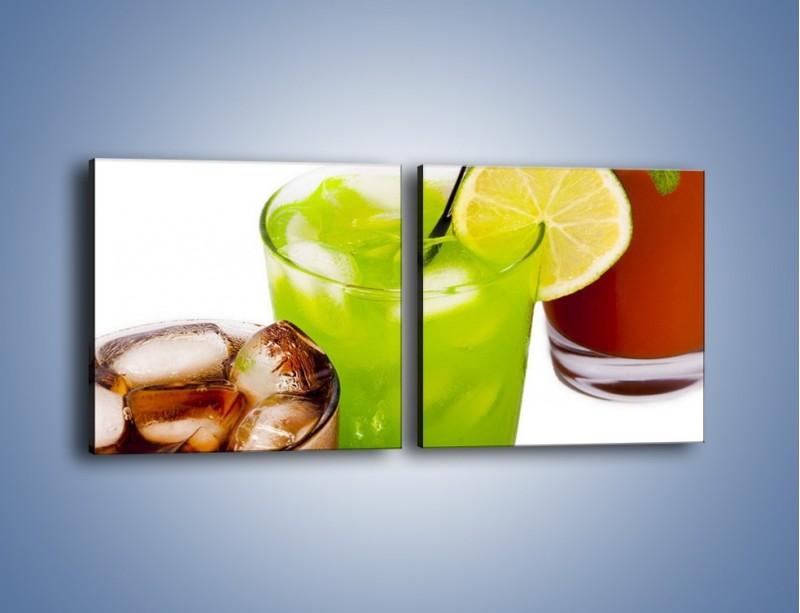 Obraz na płótnie – Kwaśno-słodkie drinki – dwuczęściowy kwadratowy poziomy JN093