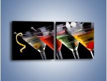 Obraz na płótnie – Alkoholowa zabawa do rana – dwuczęściowy kwadratowy poziomy JN100