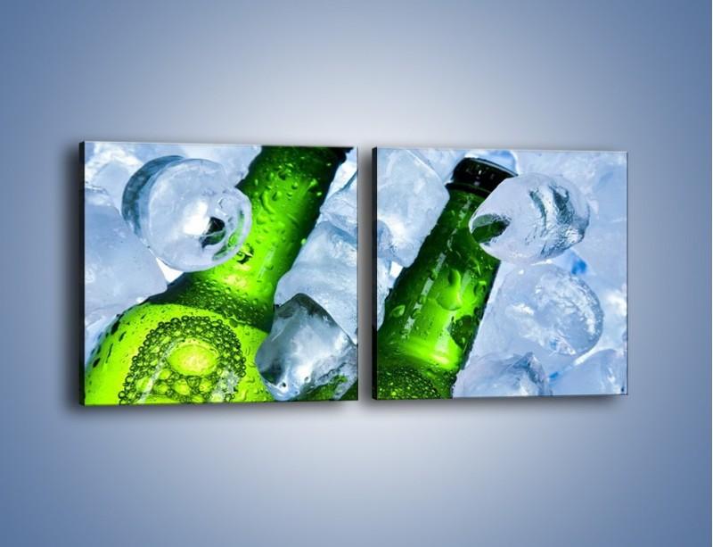 Obraz na płótnie – Czas na zimne piwko – dwuczęściowy kwadratowy poziomy JN148