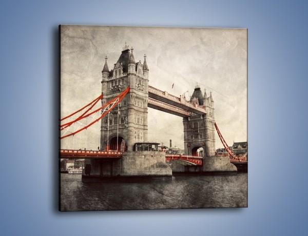 Obraz na płótnie – Tower Bridge w stylu vintage – jednoczęściowy kwadratowy AM668