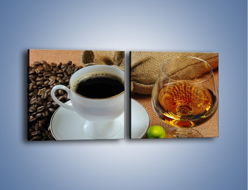 Obraz na płótnie – Wieczorowa kawa z prądem – dwuczęściowy kwadratowy poziomy JN166