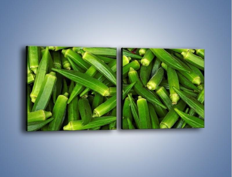 Obraz na płótnie – Warzywna egzotyka – dwuczęściowy kwadratowy poziomy JN191