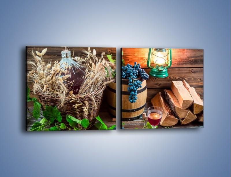 Obraz na płótnie – Wino według własnego przepisu – dwuczęściowy kwadratowy poziomy JN202