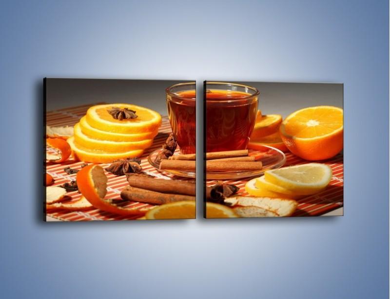 Obraz na płótnie – Imbirowo-pomarańczowe rozluźnienie – dwuczęściowy kwadratowy poziomy JN260