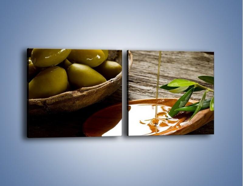 Obraz na płótnie – Bogactwa wydobyte z oliwek – dwuczęściowy kwadratowy poziomy JN270