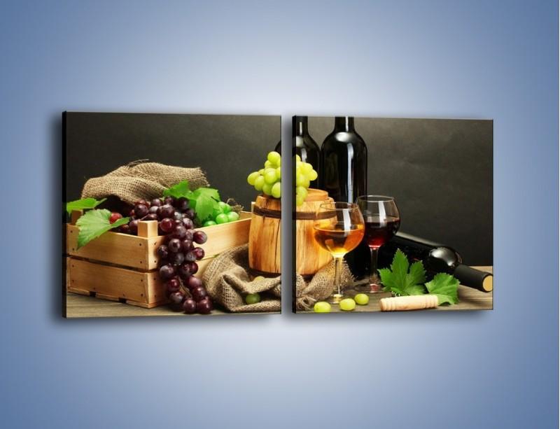 Obraz na płótnie – Wytrawne smaki wina – dwuczęściowy kwadratowy poziomy JN289