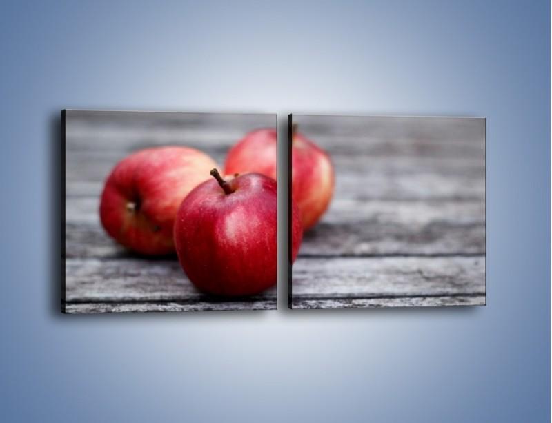 Obraz na płótnie – Jabłkowe zdrowie – dwuczęściowy kwadratowy poziomy JN296