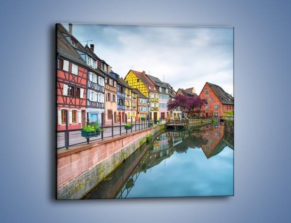 """Obraz na płótnie – Colmar - """"Mała Wenecja"""" - we Francji – jednoczęściowy kwadratowy AM672"""
