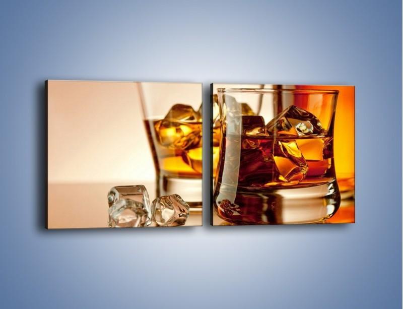 Obraz na płótnie – Męskie rozmowy przy whisky – dwuczęściowy kwadratowy poziomy JN318