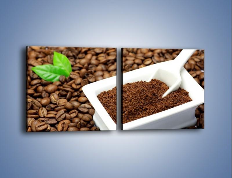 Obraz na płótnie – Zmielona kawa – dwuczęściowy kwadratowy poziomy JN340
