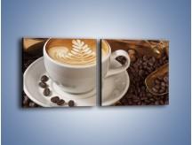 Obraz na płótnie – Czas na kawę – dwuczęściowy kwadratowy poziomy JN353