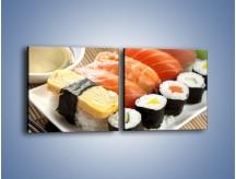 Obraz na płótnie – Azjatyckie posiłki – dwuczęściowy kwadratowy poziomy JN355