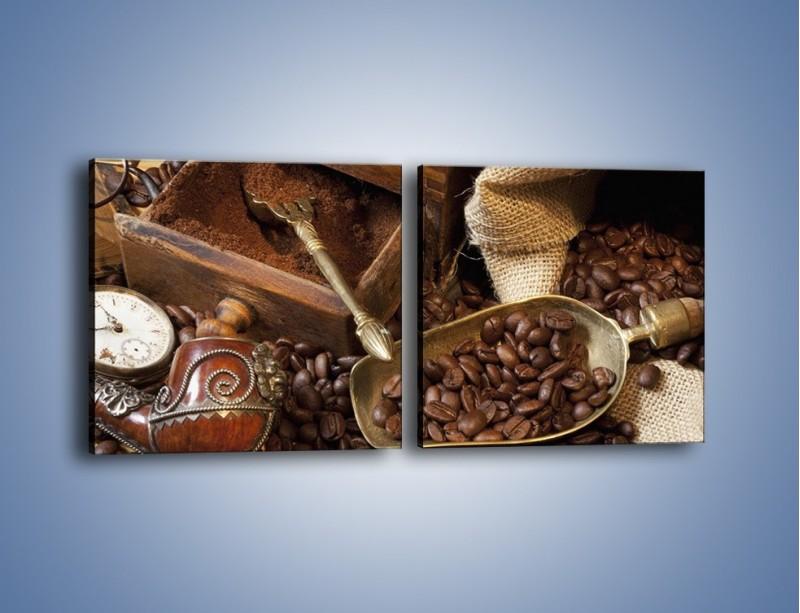 Obraz na płótnie – Szuflada pełna kawy – dwuczęściowy kwadratowy poziomy JN356